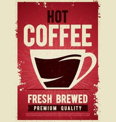 coffee shop retro vintage poster tin sign vector image