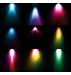 Colorful light sources set vector