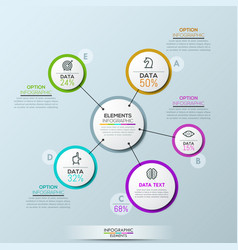 company infographic overview design vector image