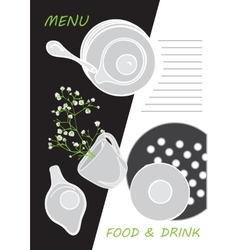 Cute menu card vector image