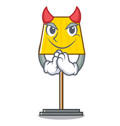Devil floor lamp mascot cartoon vector
