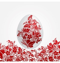 Easter red eggs design template vector