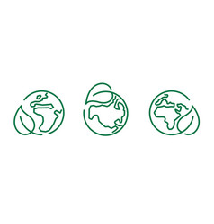 eco safe icon recyclable package symbol template vector image
