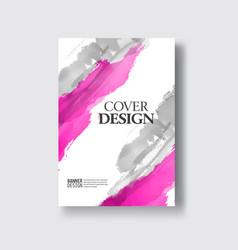 Elegant brochure template design ink brush element vector