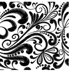 Embroidery floral seamless pattern ethnic style vector