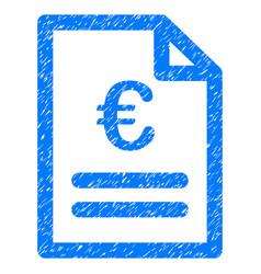 euro invoice grunge icon vector image