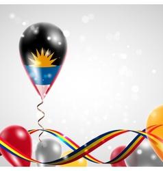 Flag of Antigua and Barbuda on balloon vector