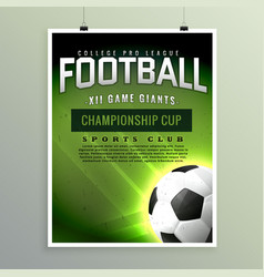Football sports championship game flyer template vector