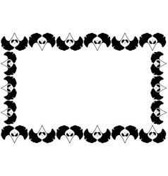 ginkgo leaf - frame vector image
