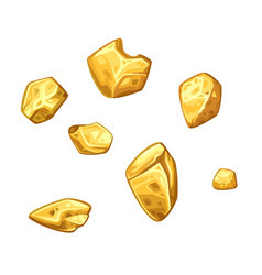 golden ore set vector image