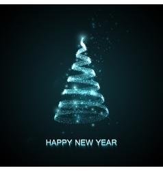 Holiday abstract christmas tree vector