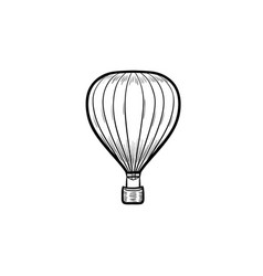 Hot air balloon hand drawn outline doodle icon vector