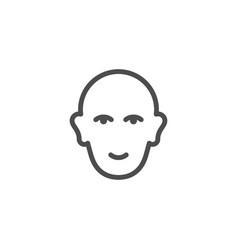 Human head line icon vector