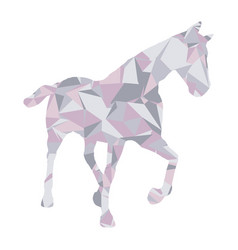 low poly horse design vector image