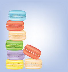macaroons background vector image