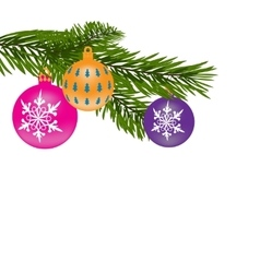 New Year or Christmas background Fur-tree branch vector