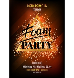 Night club flyer template for foam party vector image