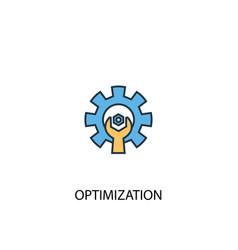 Optimization concept 2 colored line icon simple vector