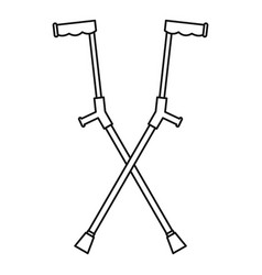 Other crutches icon outline style vector