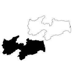 paraiba map vector image