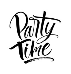 party time lettering vector image