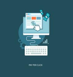 pay per click flat vector image