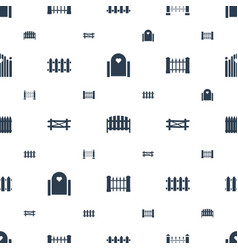 Picket icons pattern seamless white background vector