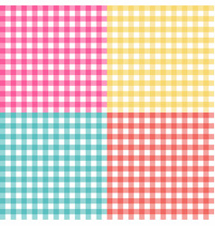 Picnic table cloth seamless pattern set picnic vector