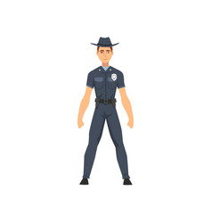 police officer in uniform sheriff policeman vector image
