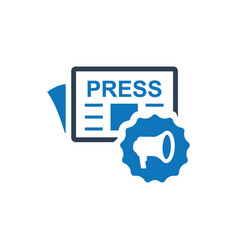 Press release icon vector