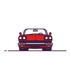 red retro cabrio front view vector image