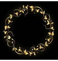 Round pattern gold vector image