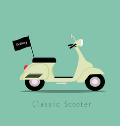 scooter vintage classic style logistics and vector image
