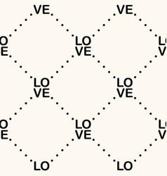seamless geometric monocrome pattern vector image