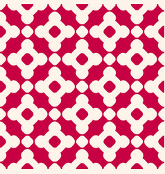 seamless pattern in chinese style red and beige vector image