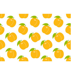 seamless pattern with orange peach vector image