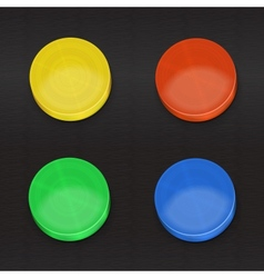 Set color convex buttons vector