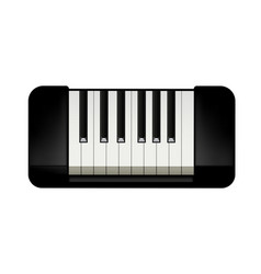 Small piano on white vector