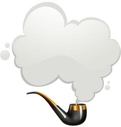 Smoking pipe with smoke vector image