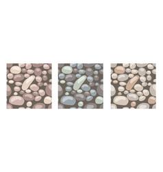 Stone texture set seamless patterns vector