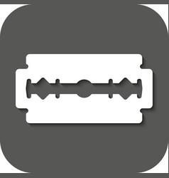 The blade razor icon Shaver symbol Flat vector image