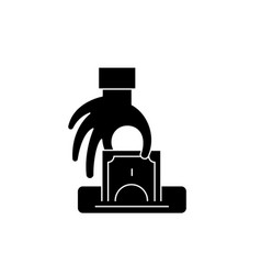 Theft black icon sign on isolated vector