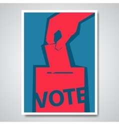 Vote election cover design vector