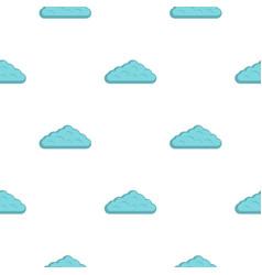 Wet cloud pattern flat vector