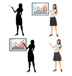woman showing presentation vector image