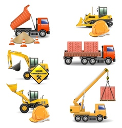 Construction Machines Set 4 vector image vector image