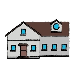 drawing family house exterior concept vector image vector image