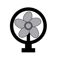 electric fan appliance air device vector image