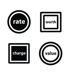 price tags label set circles and squares vector image vector image