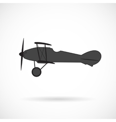 silhouette retro plane times of World War I vector image vector image